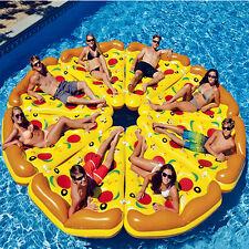 8pcs Giant Pizza Slice Inflatable Float Raft Lounger Lake Mat Swimming Ring Pool
