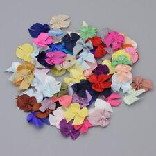 72Pcs Mini Satin Ribbon Bow DIY HandCraft Butterfly Home Wedding Ornament Random