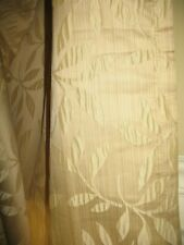 "GOLD WHEAT TONE Drape Curtain Drapery 2 Panels 52"" x 94"" ea Vintage"