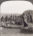 WW1. Russian Dead Awaiting Burial After Battle on the Eastern Front. Stereoview