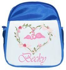 Personalised Niña Flamingo Ruck Saco /Mochila/ Bolsa - 2 Colores Disponibles