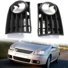 2pc Left Right Front Bumper Lower Grille Fog Light Cover For VW Golf V MK5 03-09