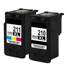 2 PACK PG- 210XL CL-211XL Ink for Canon PIXMA MP240 MP250 MP480 MP490
