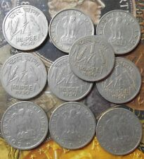 10 Coins LOT - 1950 - ¼ Rupee Nickel – 2.73 g – ø 19 mm - india