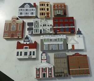 Cats Meow Village Buildings - SET/LOT of 12 pieces - all different, no bags, New
