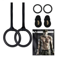ABS Gymnastic Crossfit Gym Fitness Rings with Straps Buckles Strength Training