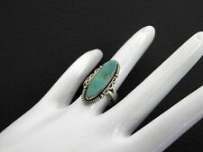 Vintage Solid 925 Sterling Silver Ring Turquoise Southwestern Old Pawn Small 5.5