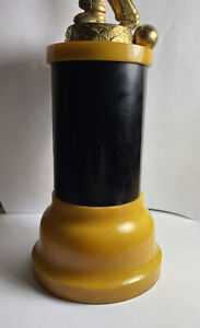 1950s Vintage Bakelite Bowling Trophy Marbled Butterscotch Yellow thick base MCM