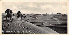 POSTCARD    EGYPT   The  Sea of  Sand in  the  Desert