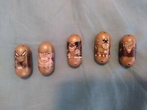 Mighty Beanz Marvel Universe 5 Golden Gold 80 81 82 83 84 Complete 2010
