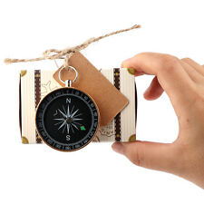 10×Paper Candy Present Gift Box Bag with Compass Travel Theme Wedding Party Gift