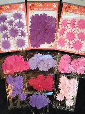 180 Flowers Lot assortment flower Petals Handmade Mulberry Paper pink purple13