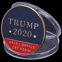 US 45th President Donald Trump 2020 Challenge Coin Make Liberals Cry Again ! Sd