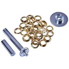 30 pairs of aluminium eyelets Tarpaulin//awning eyelet repair kit 12.5mm tool