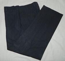 Men Wool Incotex Venezia Solid Dark Brown Flat Front Dress Work Pants 48 Italy