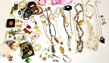 Vintage Estate Mixed Lot Costume Jewelry Signed Unsigned 93 PCS