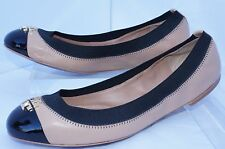 New Tory Burch Jolie Shoes Ballet Flats Beigi Size 6 Slip Ons Leather