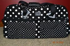 Victorias Secret Pink X Lg Polka Dot Luggage Wheelie Duffel Bag Suitcase NWT