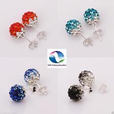 Markenlose Mode-Ohrschmuck aus Sterlingsilber mit Kristall Butterfly-Verschluss