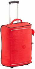 Kipling Teagan Cabin Sized 2 Wheeled Trolley Suitcase, 50 cm, Cardinal Red