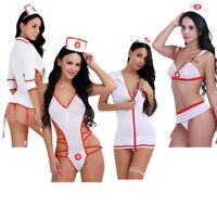 Sexy Adult Women Halloween Doctor Nurse Costume Fancy Dress Lingerie Cosplay