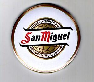 """San Miguel  Fridge Magnet Beer Mat Bar Ale 3"""" 75mm Blade Cerveza Sub lager"""