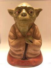 "Vintage Star Wars Yoda 10.5"" Painted Plaster Statue - Rare"