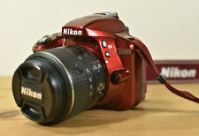 NIKON D3300 DSLR RED CAMERA KIT WITH NIKKOR LENS CHARGER BATTERY & 32GB SD