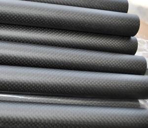 3K Carbon Fiber Tube OD 20mm 21 22mm 23mm 24 25mm 26 27mm 28mm 29 30mm x 1m  AU