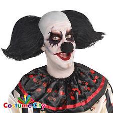 Adultos Negro Freak Show Circo Payaso Peluca De Halloween vestido elegante Horror Accesorio