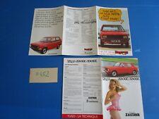 N°11452 : ZASTAVA Yugo 55 GTL.65 GTL.45  dépliant et catalogue français