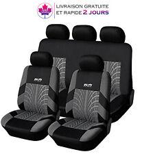 Housses de siège de voiture Intérieur Coupe universelle – Noir/Gris