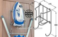 Chrome Iron Holder and Ironing Board Holder Strong Rack SUPPLIED WITH FIXINGS