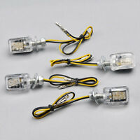 4x6 LED Mini Motorcycle Dirt Bike Turn Signal Blinker Indicator Light Chrome 12V