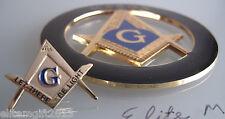 Masonic Master Mason  Freemason Cut out Car  Emblem & Lapel Pin