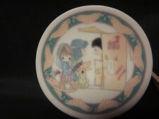 "Precious Moments Mini Ornament Plate 2.75"" '93 No Room At The Inn Free Us Ship"