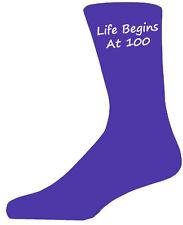Quality Purple Life Begins at 100 Socks, Lovely Birthday Gift