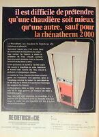 PUBLICITÉ DE DIETRICH CHAUDIÈRE RHÉNATHERM 2000 ET 3000 ESTHÉTIQUES ET EFFICACES