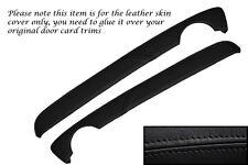 BLACK STITCH FITS MG MG TF MK2 2001-2006 2X TOP DOOR CARD TRIM LEATHER COVERS