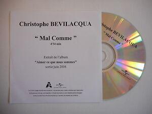 hommage au chanteur CHRISTOPHE BEVILACQUA : MAL COMME [ CD SINGLE PROMO ]