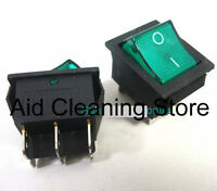 NUMATIC HENRY HOOVER JAMES HETTY GREEN ON/OFF ON OFF ROCKER SWITCH ASW15
