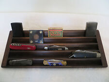 Knife, Case Knives, Matchbox, Lighter 5 Tier Stadium Wood Display-Kona Stained