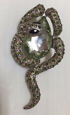 """Snake"" Pendant Green Stones  Jewelry"