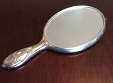 """Reed & Barton Silver Plate Travel Mirror Monogramed 4 1/4"""""""
