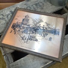 More details for vintage portrush railway station framed plaque - causeway coast northern ireland