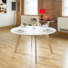 Oak Up to 6 Seats Unbranded Round Kitchen & Dining Tables