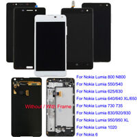 For Nokia Lumia 640 950 XL 800 920 1020 LCD Screen Touch Digitizer W/N Frame Lot