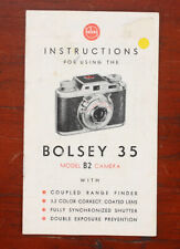 BOLSEY B2 INSTRUCTION BOOK/185142