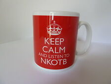 New Keep Calm And Listen To NKOTB New Kids On The Block Carry On Gift Mug Cup