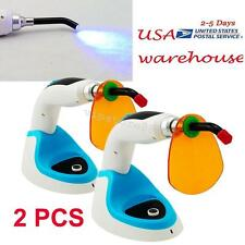 2PCS 10W Wireless Cordless LED Dental Curing Light Lamp 2000MW + Whitening USA!
